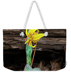 Weekender Tote Bag featuring the photograph The Lone Trout Lily by Barbara Bowen