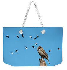 The Lonely Sparrow Weekender Tote Bag