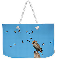 The Lonely Sparrow Weekender Tote Bag