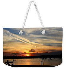The Lonely Sunset Weekender Tote Bag