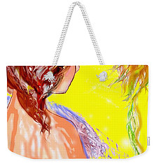 Weekender Tote Bag featuring the drawing The Long Hot Summer by Desline Vitto