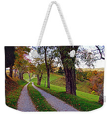 The Long Road In Autumn Weekender Tote Bag by Mike Murdock