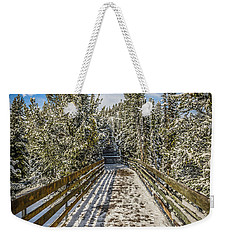Weekender Tote Bag featuring the photograph The Long Walkway by Bill Howard