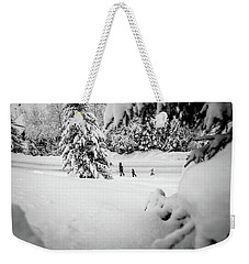 Weekender Tote Bag featuring the photograph The Long Walk- by JD Mims