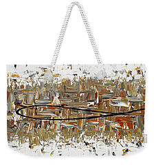 Weekender Tote Bag featuring the painting The Longest Ride by Carmen Guedez