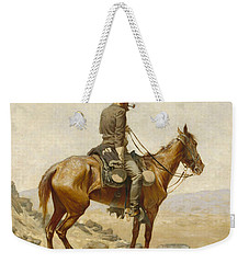 The Lookout Weekender Tote Bag by Frederic Remington