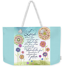 The Lord Bless You Weekender Tote Bag