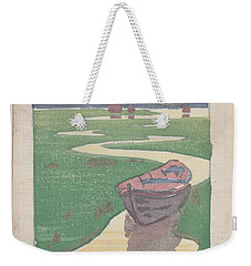Weekender Tote Bag featuring the painting The Lost Boat , Arthur Wesley Dow by Artistic Panda
