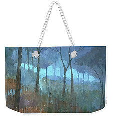 Weekender Tote Bag featuring the painting The Lost Trail by Steve Mitchell