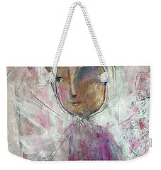 Weekender Tote Bag featuring the painting The Love Bunny by Eleatta Diver