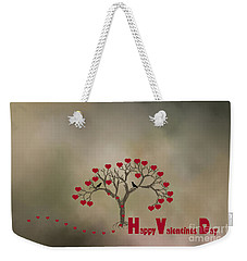 Weekender Tote Bag featuring the photograph The Love Tree by Darren Fisher