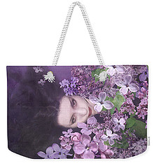 The Luxury Of Lilacs Weekender Tote Bag by Heather King