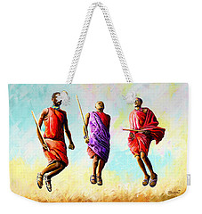 The Maasai Jump Weekender Tote Bag