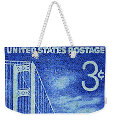 The Mackinac Bridge Stamp Weekender Tote Bag