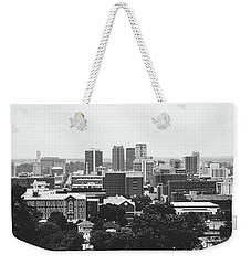 Weekender Tote Bag featuring the photograph The Magic City In Monochrome by Shelby Young