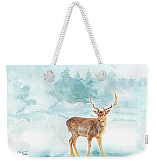 Weekender Tote Bag featuring the painting The Magic Of Winter  by Colleen Taylor