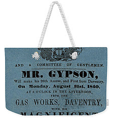 The Magnificent Mr. Gypson Weekender Tote Bag