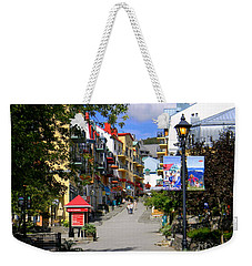 Weekender Tote Bag featuring the photograph The Main by Elfriede Fulda