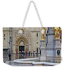 The Main Portal Of Zagreb Cathedral Weekender Tote Bag