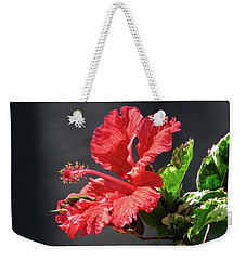 The Mallow Hibiscus Weekender Tote Bag