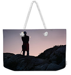 Weekender Tote Bag featuring the photograph The Man And The Moon by Sabine Edrissi