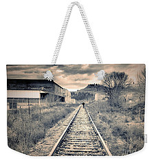 The Man On The Tracks Weekender Tote Bag by Tara Turner