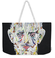 Weekender Tote Bag featuring the painting The Man Who Tried To Become A Mountain by Fabrizio Cassetta