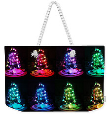 The Many Moods Of Christmas Trees Weekender Tote Bag by Denise Fulmer