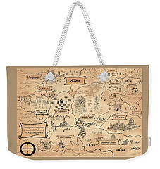 The Map Of The Enchanted Kira Weekender Tote Bag by Reynold Jay