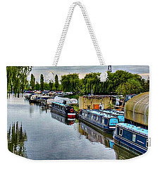 Weekender Tote Bag featuring the photograph The Marina by Isabella F Abbie Shores FRSA