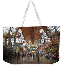Weekender Tote Bag featuring the photograph The Market Hall by Alex Lapidus