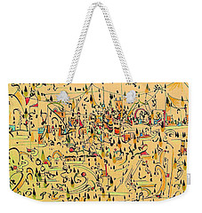The Marketplace Weekender Tote Bag by Nancy Kane Chapman