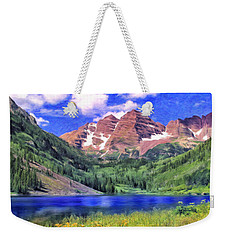 The Maroon Bells Weekender Tote Bag