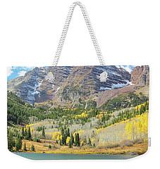 The Maroon Bells 2 Weekender Tote Bag by Eric Glaser