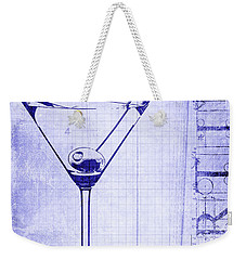 The Martini Blueprint Weekender Tote Bag by Jon Neidert