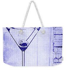 The Martini Blueprint Weekender Tote Bag by Jon Neidert