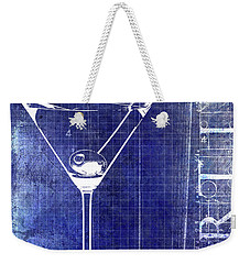 The Martini Patent Blue Weekender Tote Bag by Jon Neidert