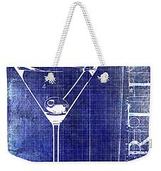 The Martini Patent Blue Weekender Tote Bag by Jon Neidert