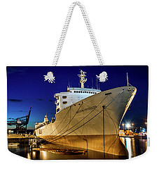 The Matson Producer During Blue Hour Weekender Tote Bag by Rob Green