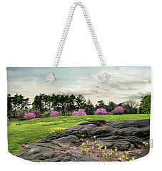 Weekender Tote Bag featuring the photograph The Meadow Beyond by Jessica Jenney
