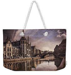 The Medieval Old Town Of Ghent  Weekender Tote Bag by Carol Japp