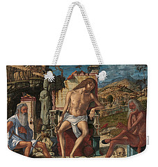 The Meditation On The Passion Weekender Tote Bag by Vittore Carpaccio