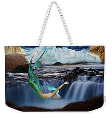 Weekender Tote Bag featuring the digital art The Mermaids Secret Lair by John Haldane