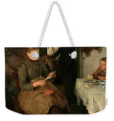 Weekender Tote Bag featuring the painting The Message by Henry Scott Tuke