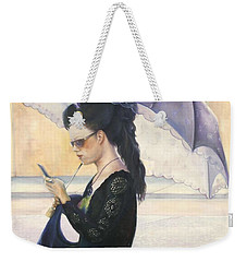 Weekender Tote Bag featuring the painting The Message by Marlene Book