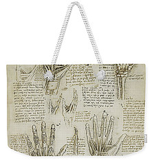 Weekender Tote Bag featuring the painting The Metacarpal by James Christopher Hill