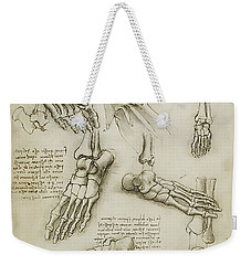 Weekender Tote Bag featuring the painting The Metatarsal by James Christopher Hill