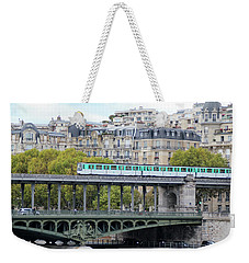 The Metro On The Bridge Weekender Tote Bag by Yoel Koskas