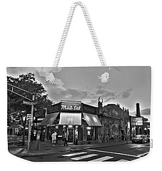 The Middle East In Central Square Cambridge Ma Black And White Weekender Tote Bag