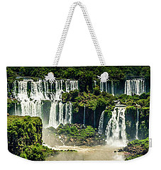 Weekender Tote Bag featuring the photograph The Mighty Iguazu  by Andrew Matwijec